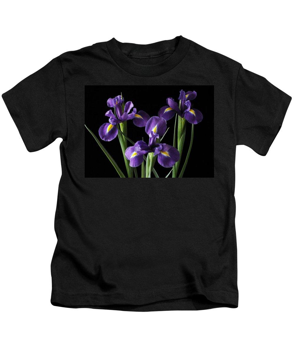 Iris Kids T-Shirt featuring the photograph Wild Iris by Nancy Griswold