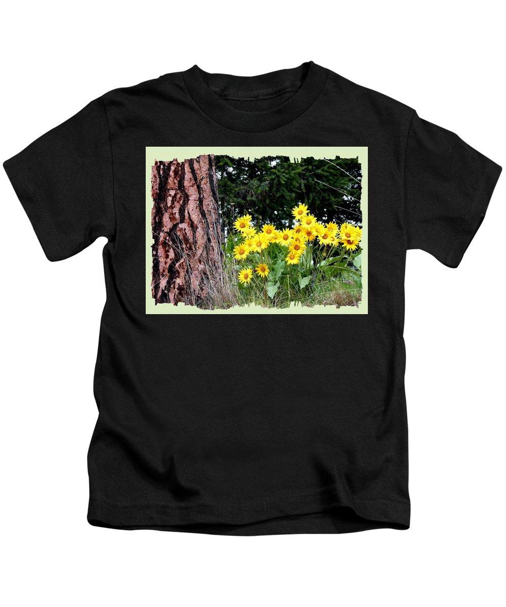 Wild Oyama Sunflowers Kids T-Shirt featuring the photograph Wild Oyama Sunflowers by Will Borden