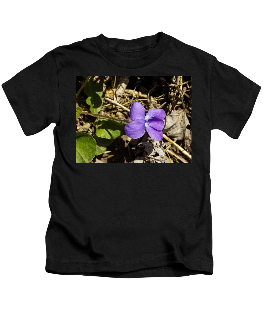 Violet Kids T-Shirt featuring the photograph Wild Violet by William Tasker