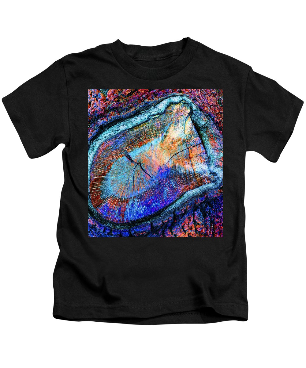 Wood Kids T-Shirt featuring the painting Wild Wood II by Stephen Anderson