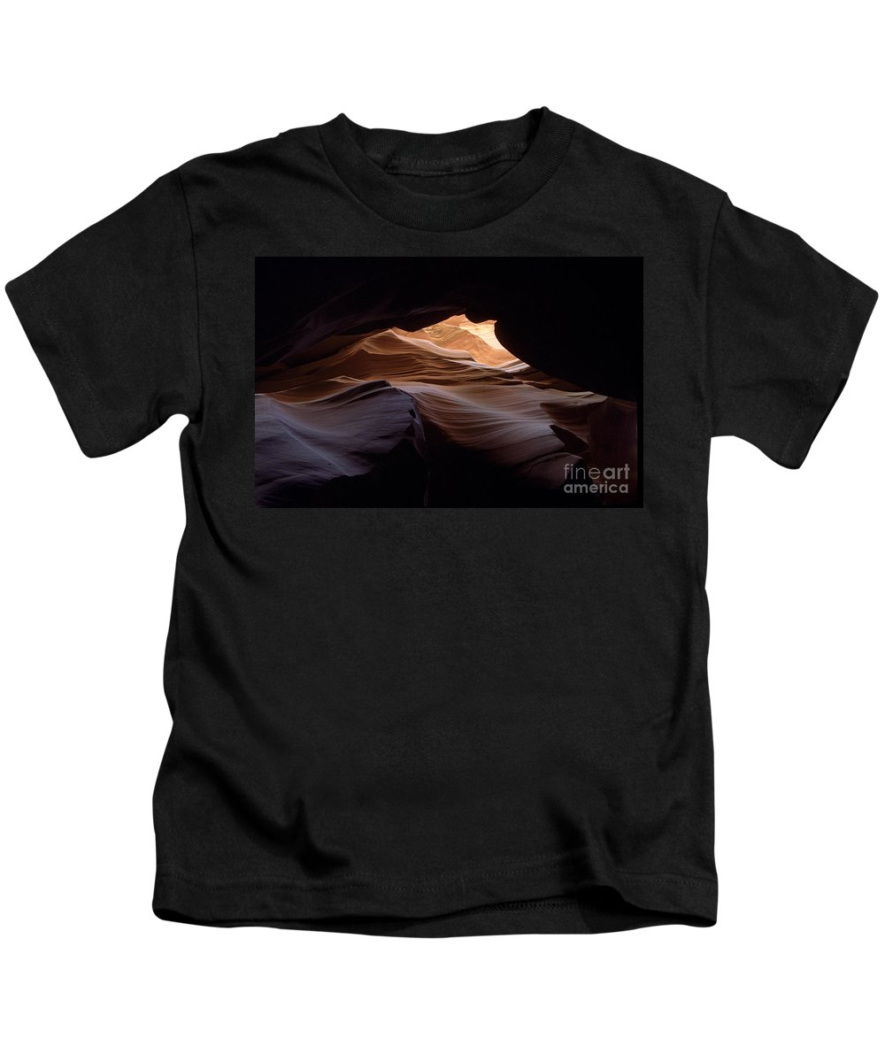 Antelope Canyon Kids T-Shirt featuring the photograph Wind And Water by Kathy McClure