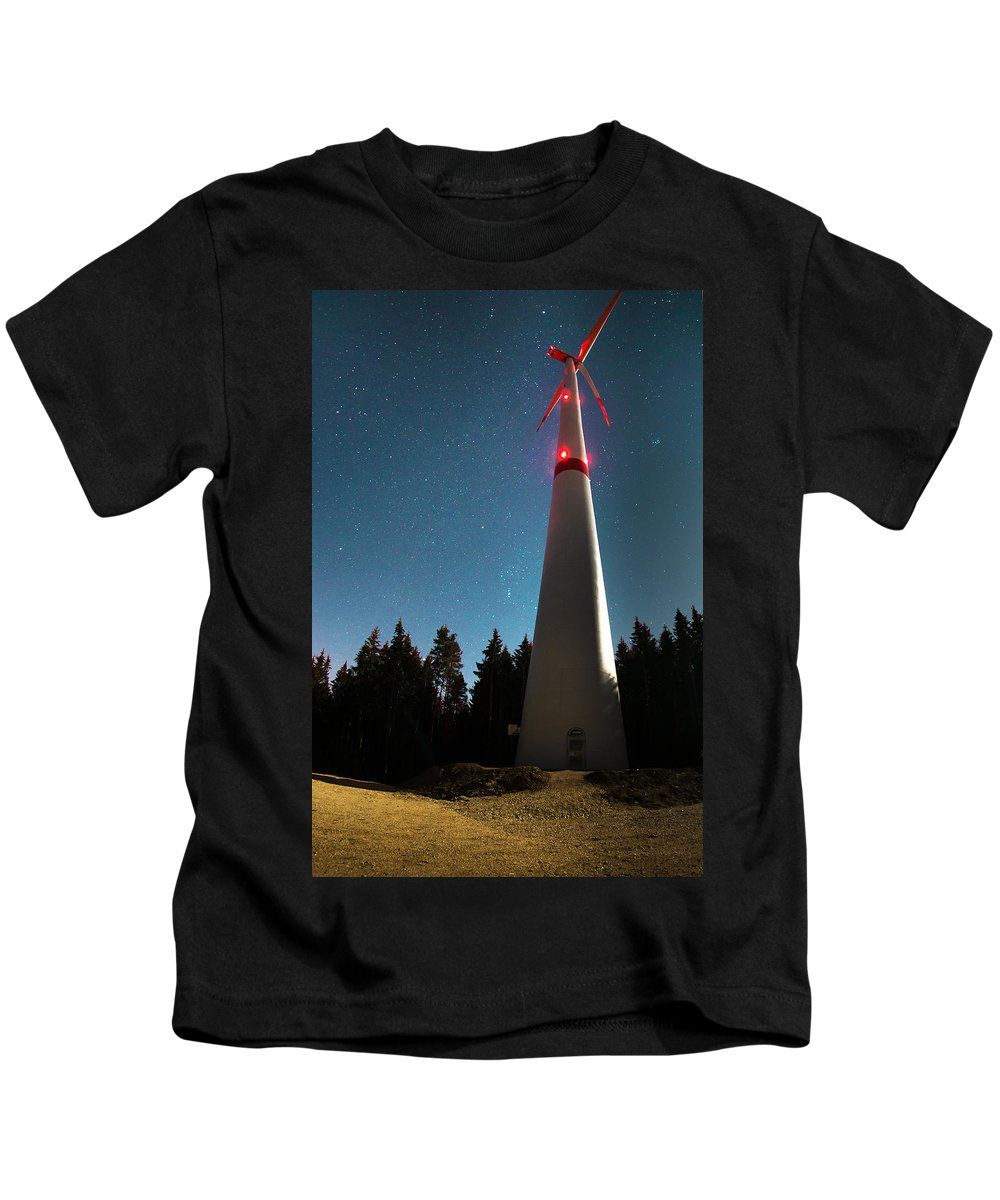 Wind Kids T-Shirt featuring the photograph Wind Energy Plant by Focal Fokus
