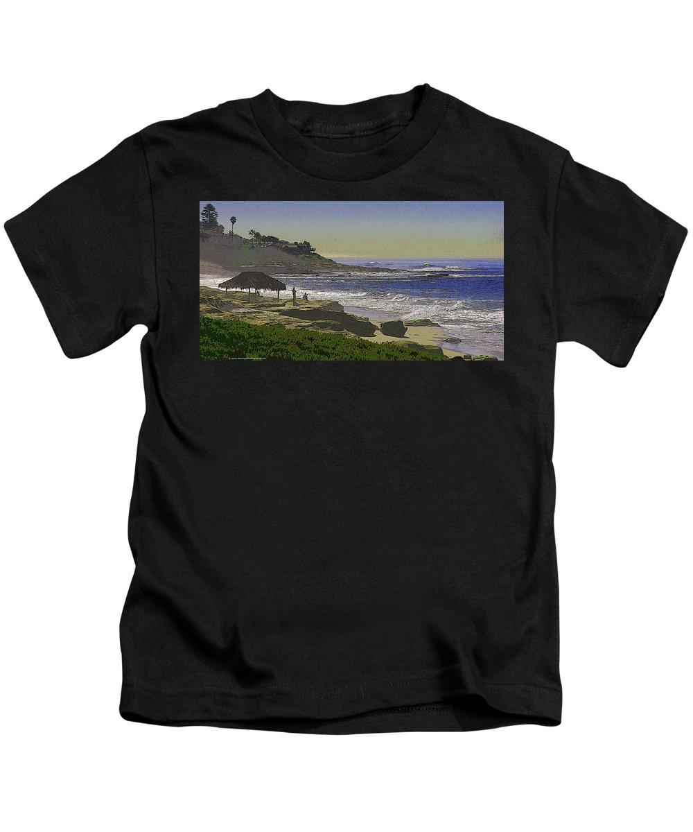 Windansea Kids T-Shirt featuring the photograph Windansea Texture by Brian Wissinger
