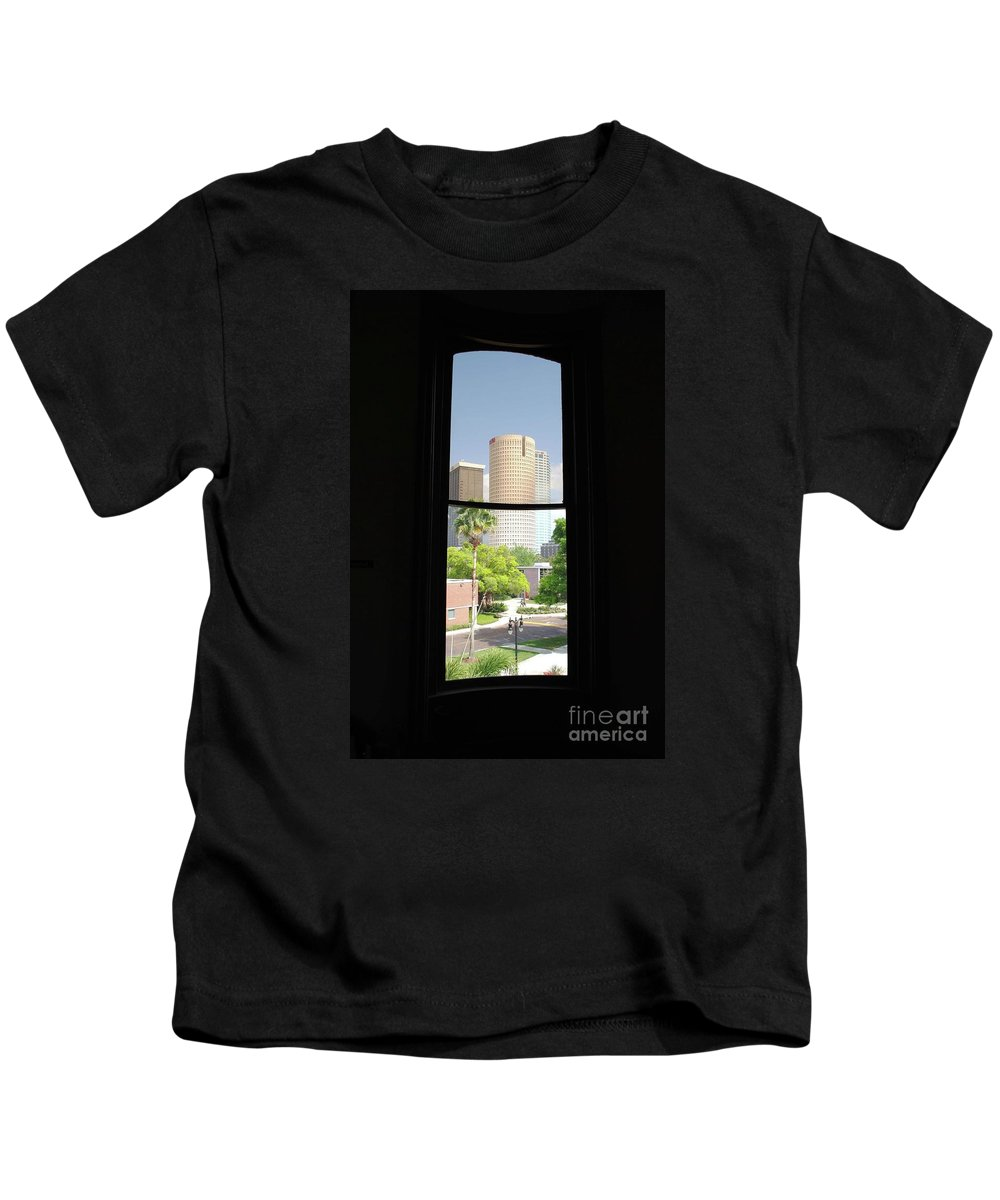 Downtown Kids T-Shirt featuring the photograph Window Of Downtown by Jost Houk