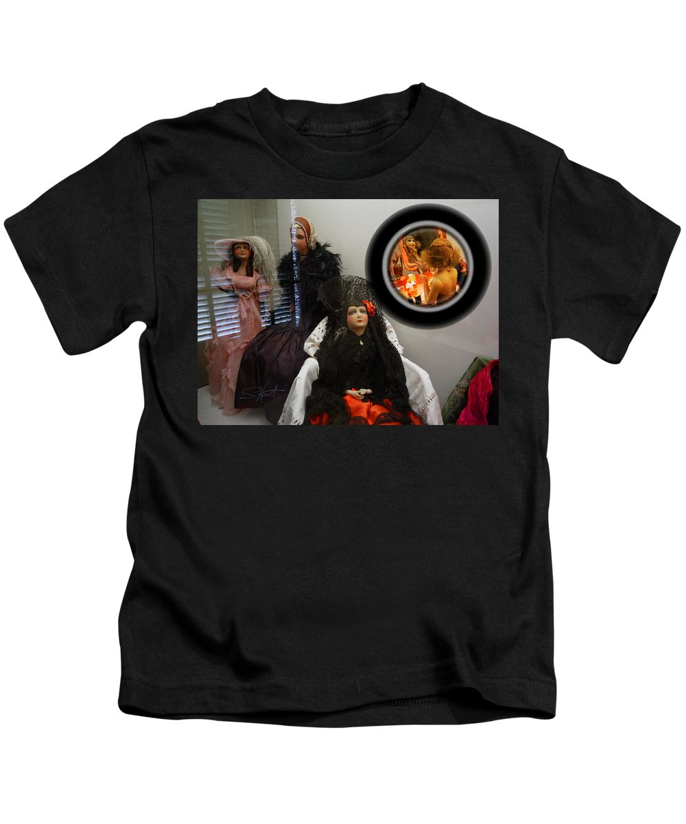 Mirror Kids T-Shirt featuring the photograph Window On The World by Charles Stuart