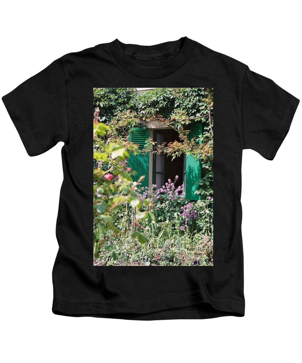 Charming Kids T-Shirt featuring the photograph Window To Monet by Nadine Rippelmeyer