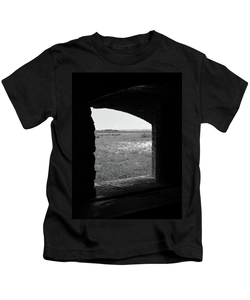 Window Kids T-Shirt featuring the photograph Window To The Battle Field by Michelle Powell