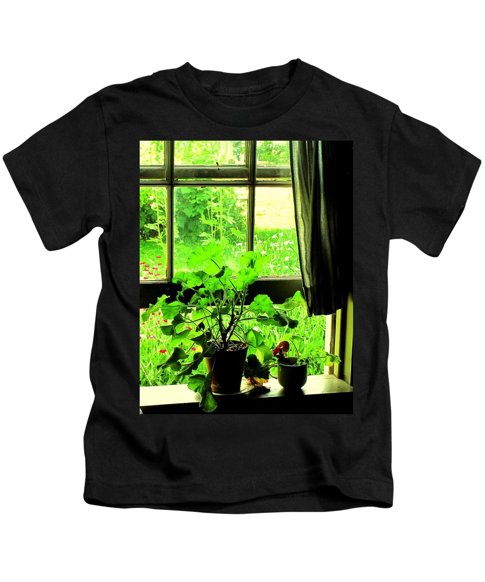 Pioneer Kids T-Shirt featuring the photograph Window To The World by Ian MacDonald