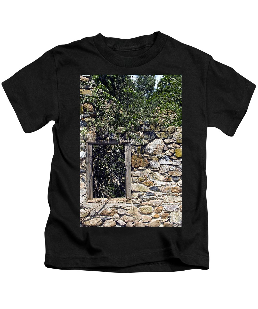 Ruin Kids T-Shirt featuring the photograph Windowless by Scott Wyatt