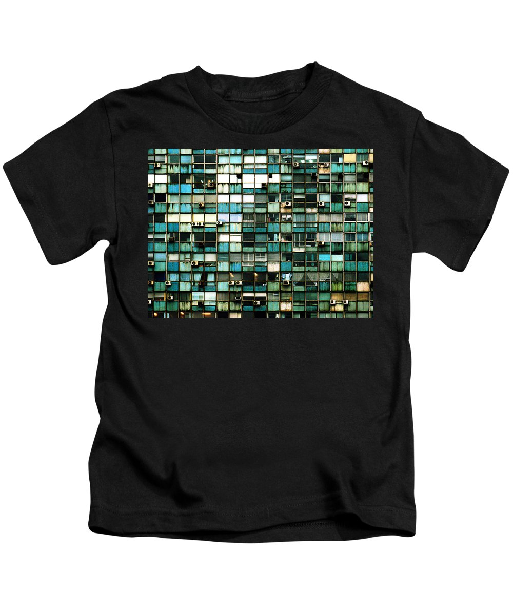 Buenos Aires Kids T-Shirt featuring the photograph Windows I by Osvaldo Hamer