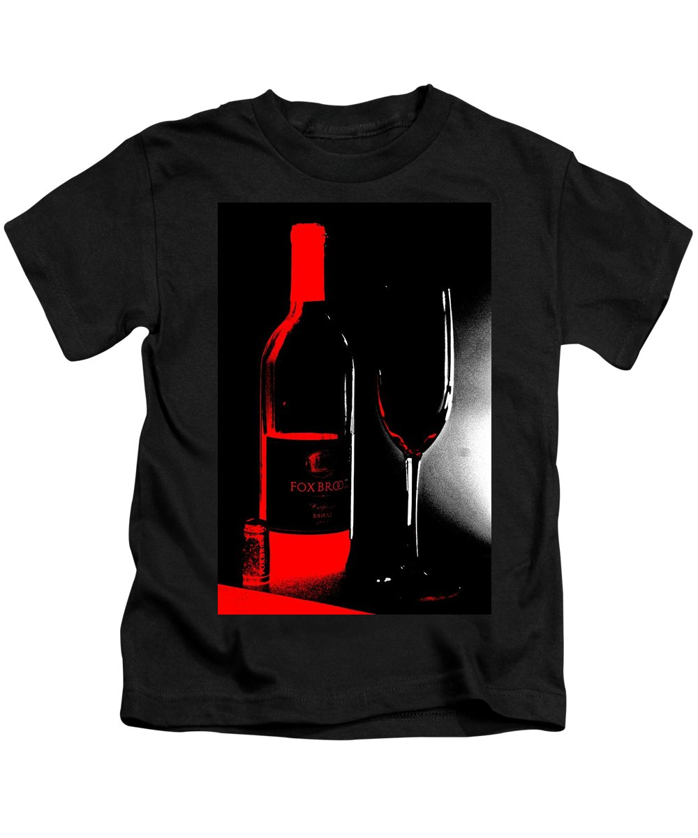 Wine Kids T-Shirt featuring the photograph Wine Time by Donna Bentley