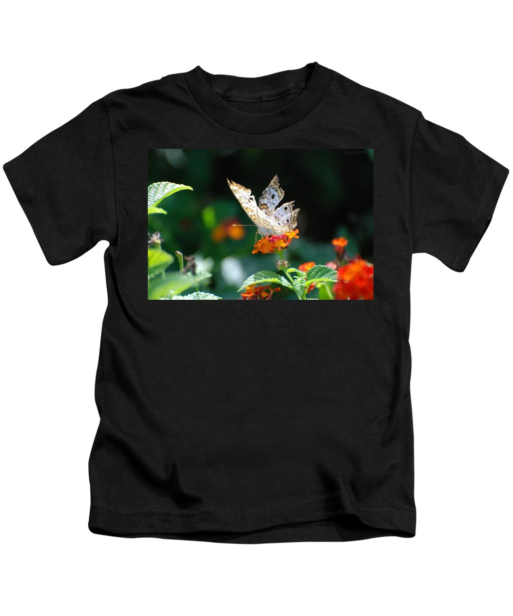 Butterfly Kids T-Shirt featuring the photograph Winged Butter by Rob Hans