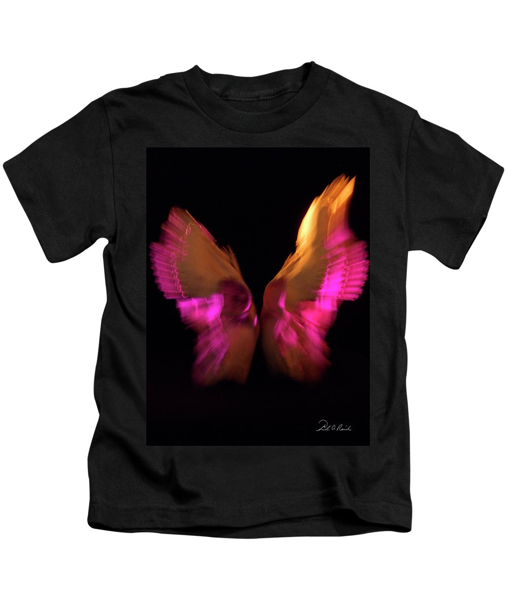 Photography Kids T-Shirt featuring the photograph Wings Of Death by Frederic A Reinecke