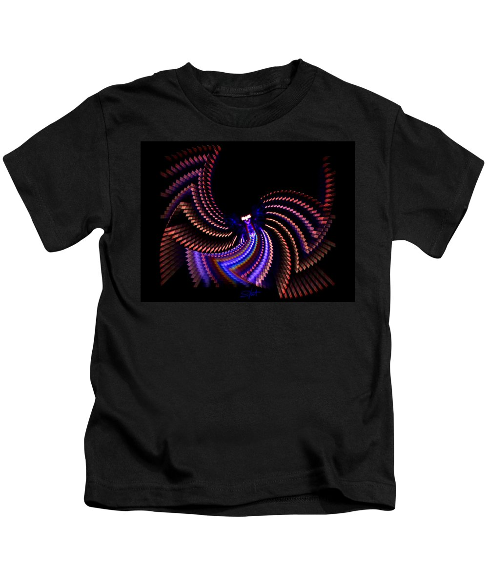 Chaos Kids T-Shirt featuring the photograph Wings Of Light by Charles Stuart