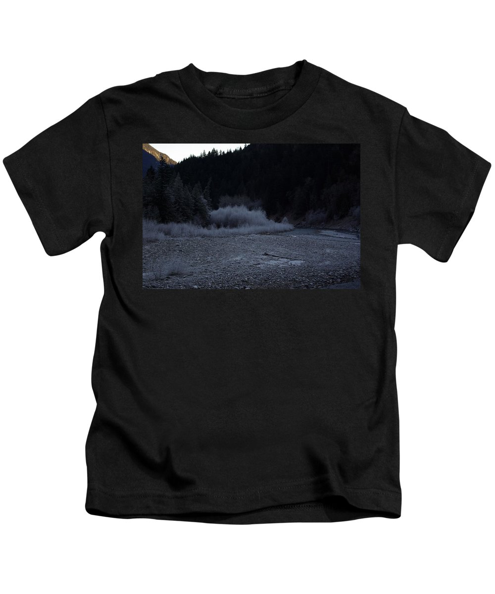 Winter Kids T-Shirt featuring the photograph Winter Creek by Cindy Johnston