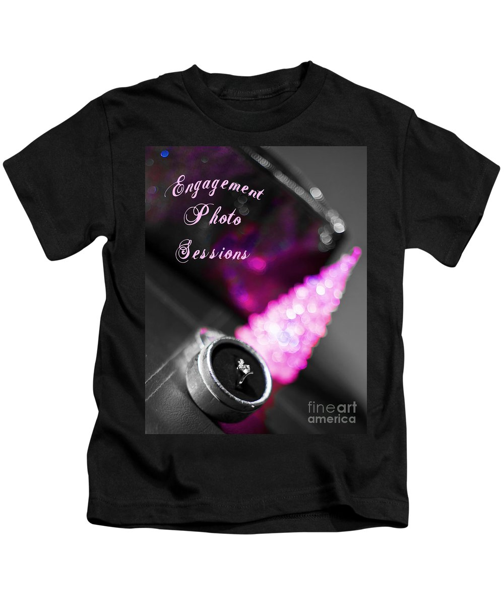 Engagement Kids T-Shirt featuring the photograph Winter Engagement V2 by Alex Art and Photo