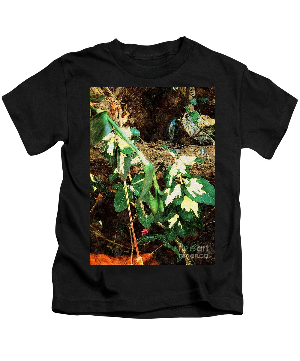 Autumn Kids T-Shirt featuring the painting Winter Hideout by RC DeWinter