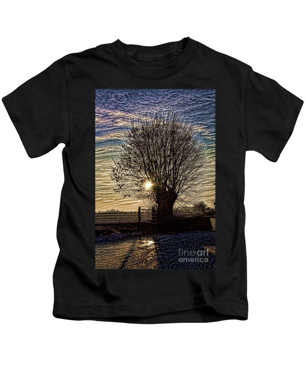 Dutch Kids T-Shirt featuring the photograph Winter In Holland 3 by Casper Cammeraat