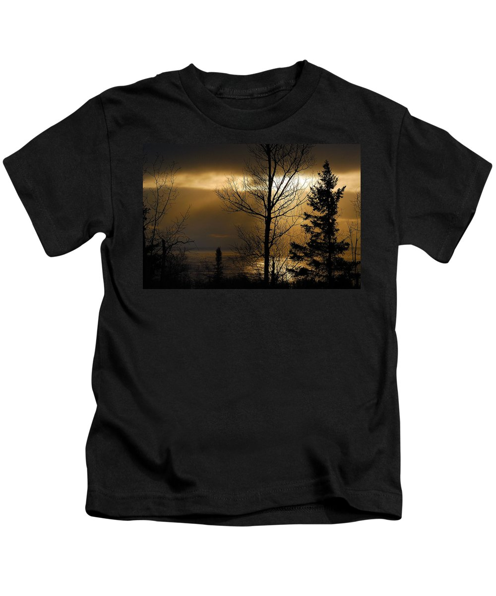 Nature Kids T-Shirt featuring the photograph Winter Sunrise 1 by Sebastian Musial