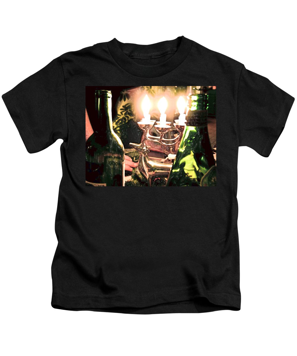 Winter Kids T-Shirt featuring the photograph Winter Wine. by Robert Ponzoni