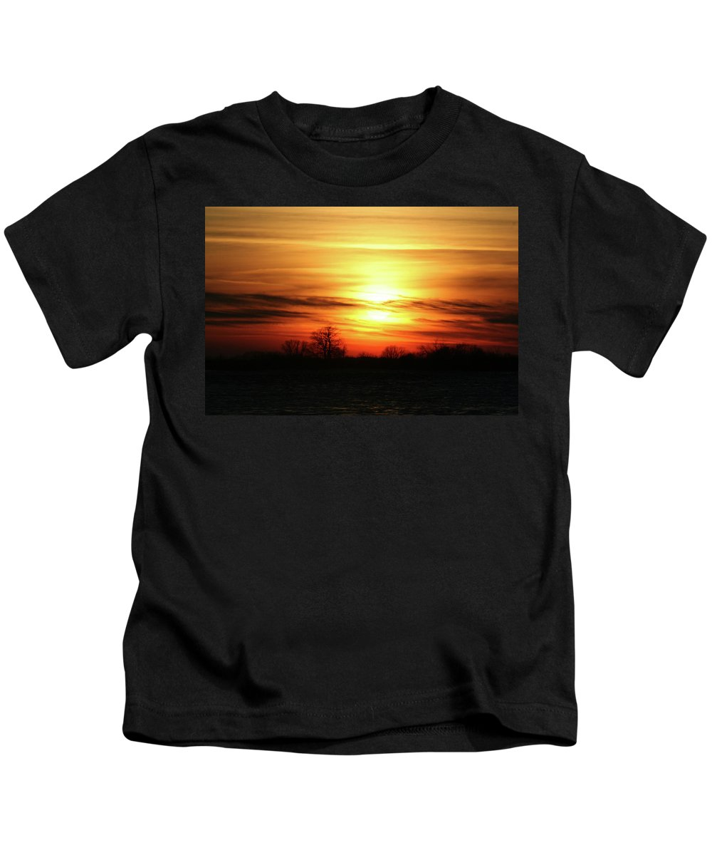 Winter Kids T-Shirt featuring the photograph Winters Morning by Tommy Anderson