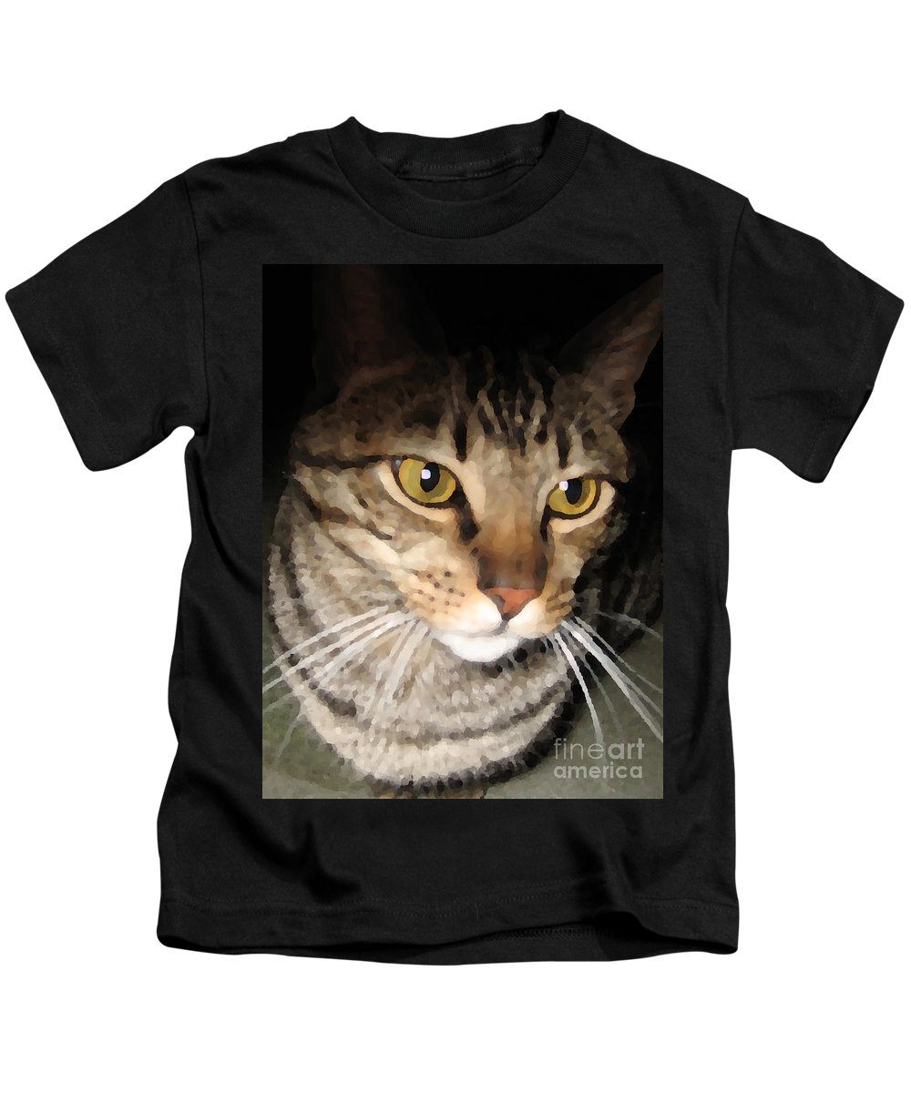 Cat Kids T-Shirt featuring the photograph Wise Cat by Rhonda Chase