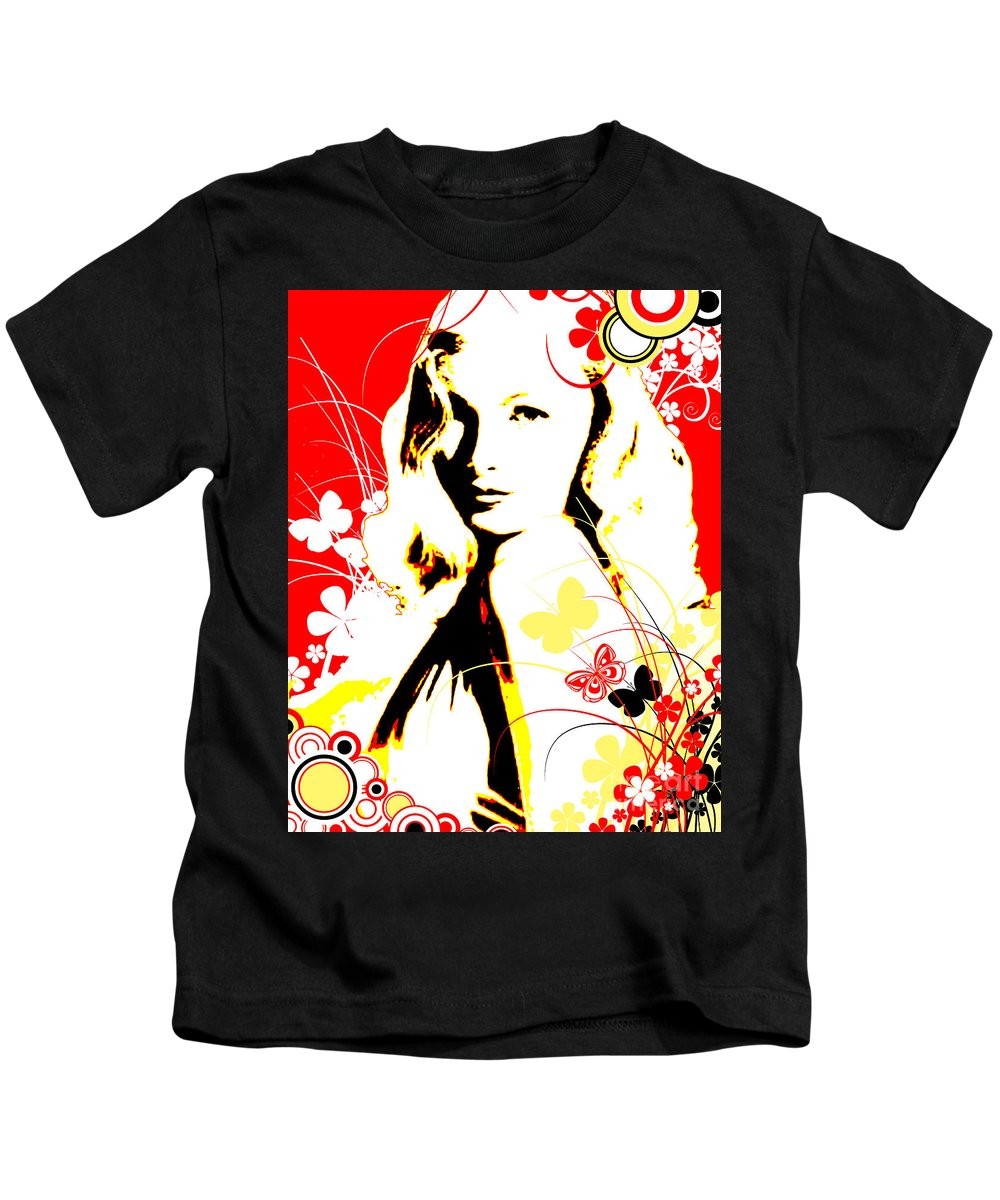 Nostalgic Seduction Kids T-Shirt featuring the digital art Wistful Flutter by Chris Andruskiewicz