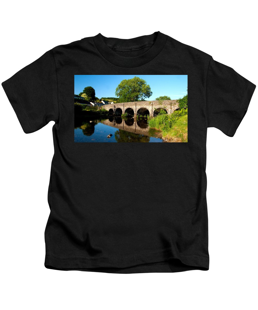 Withypool Kids T-Shirt featuring the photograph Withypool Bridge by Rob Hawkins