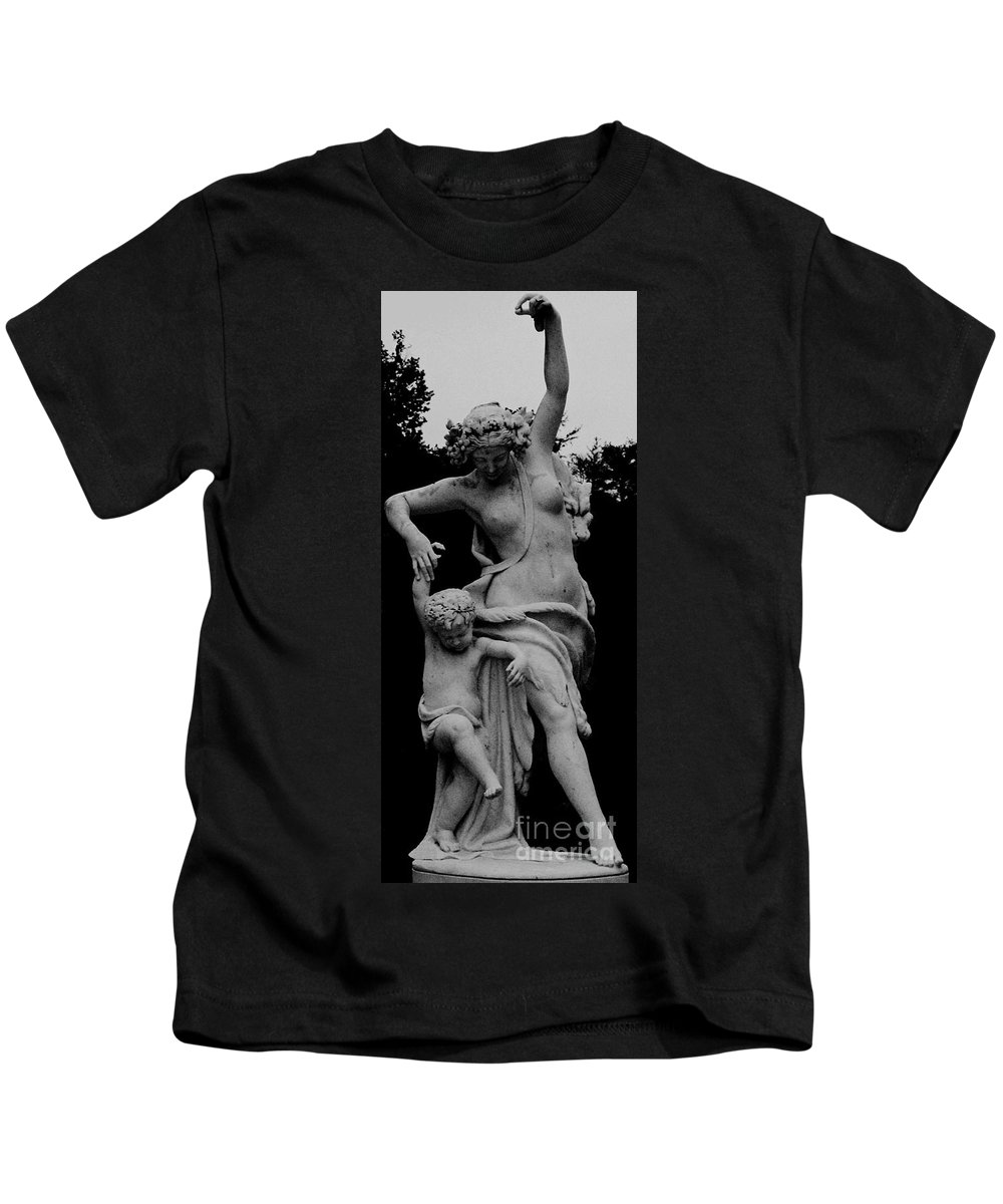 Figurative Kids T-Shirt featuring the painting Woman Statue by Eric Schiabor