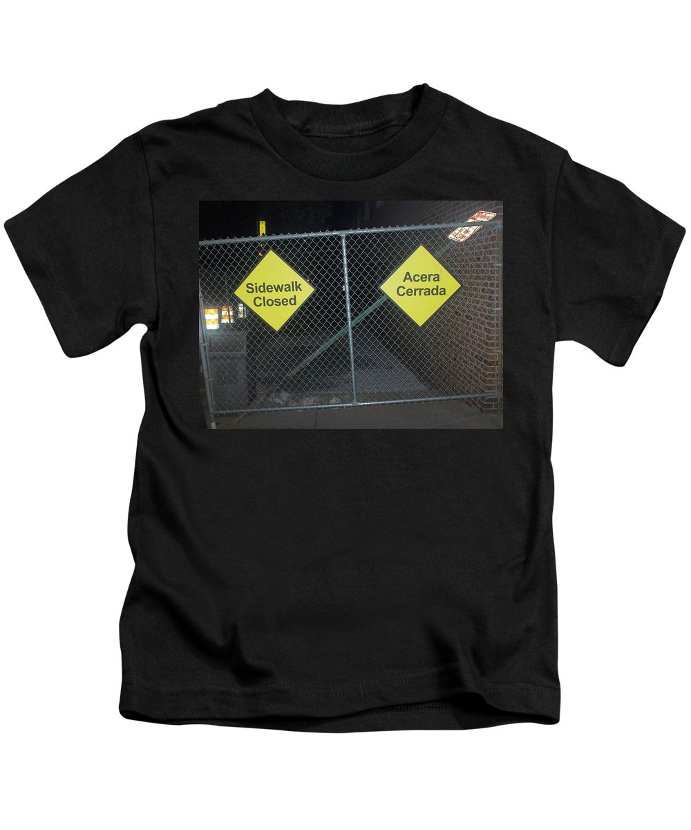 Photograph Kids T-Shirt featuring the photograph Work Ahead by Thomas Valentine