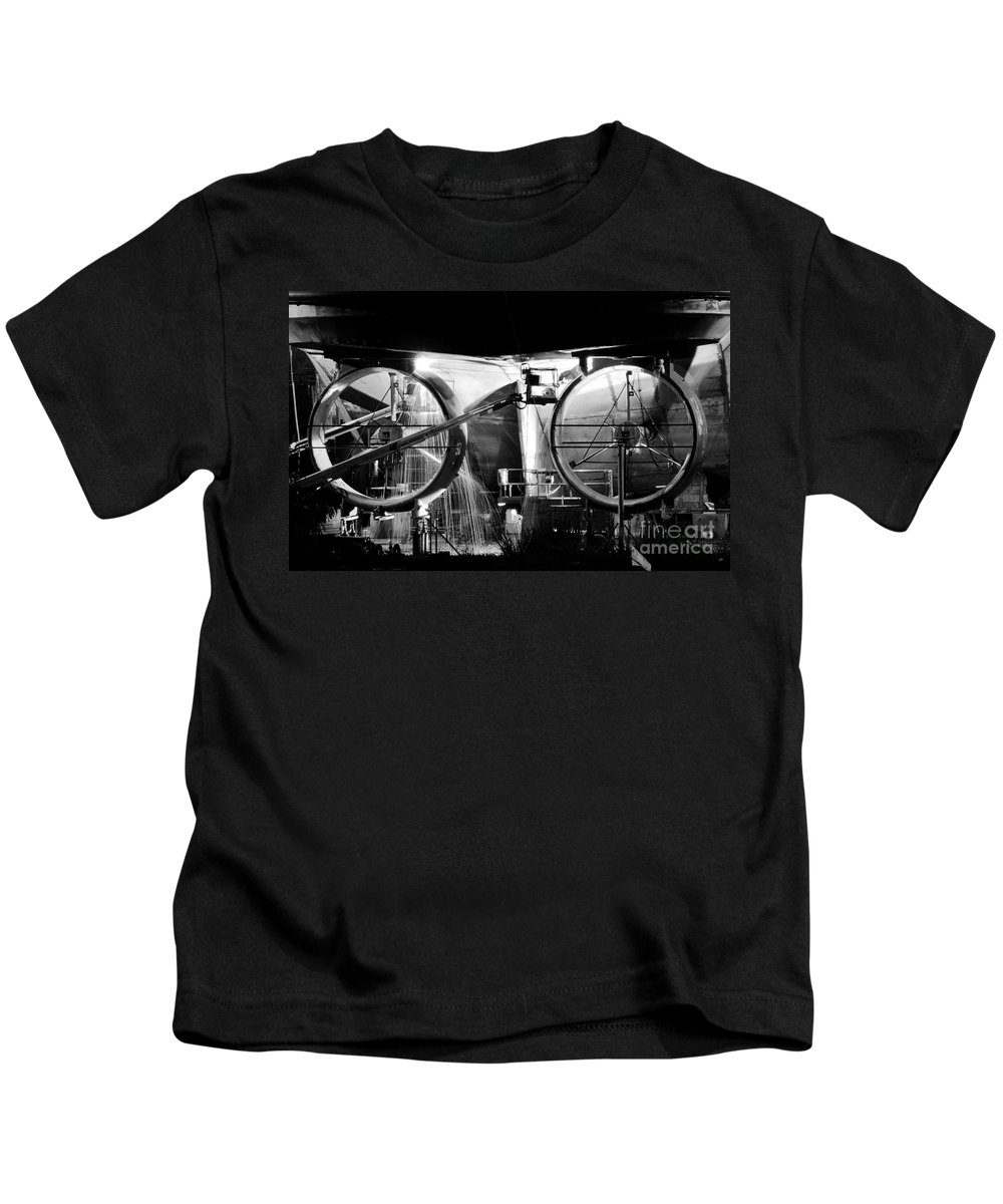 Work Kids T-Shirt featuring the photograph Working Men by David Lee Thompson