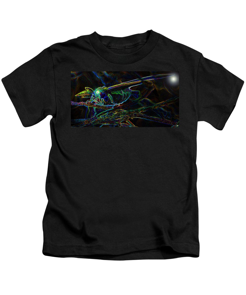 Luna Moth Kids T-Shirt featuring the photograph World Of The Luna Moth by David Lee Thompson