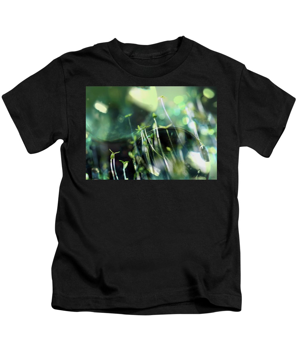 Lauren Radke Kids T-Shirt featuring the photograph Worlds Collide - New Life by Lauren Radke