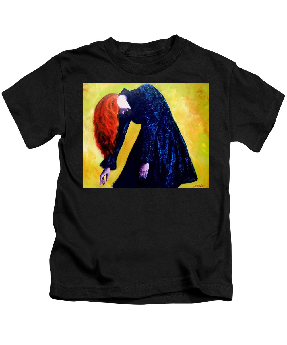 Acrylic Kids T-Shirt featuring the painting Wound Down by Jason Reinhardt