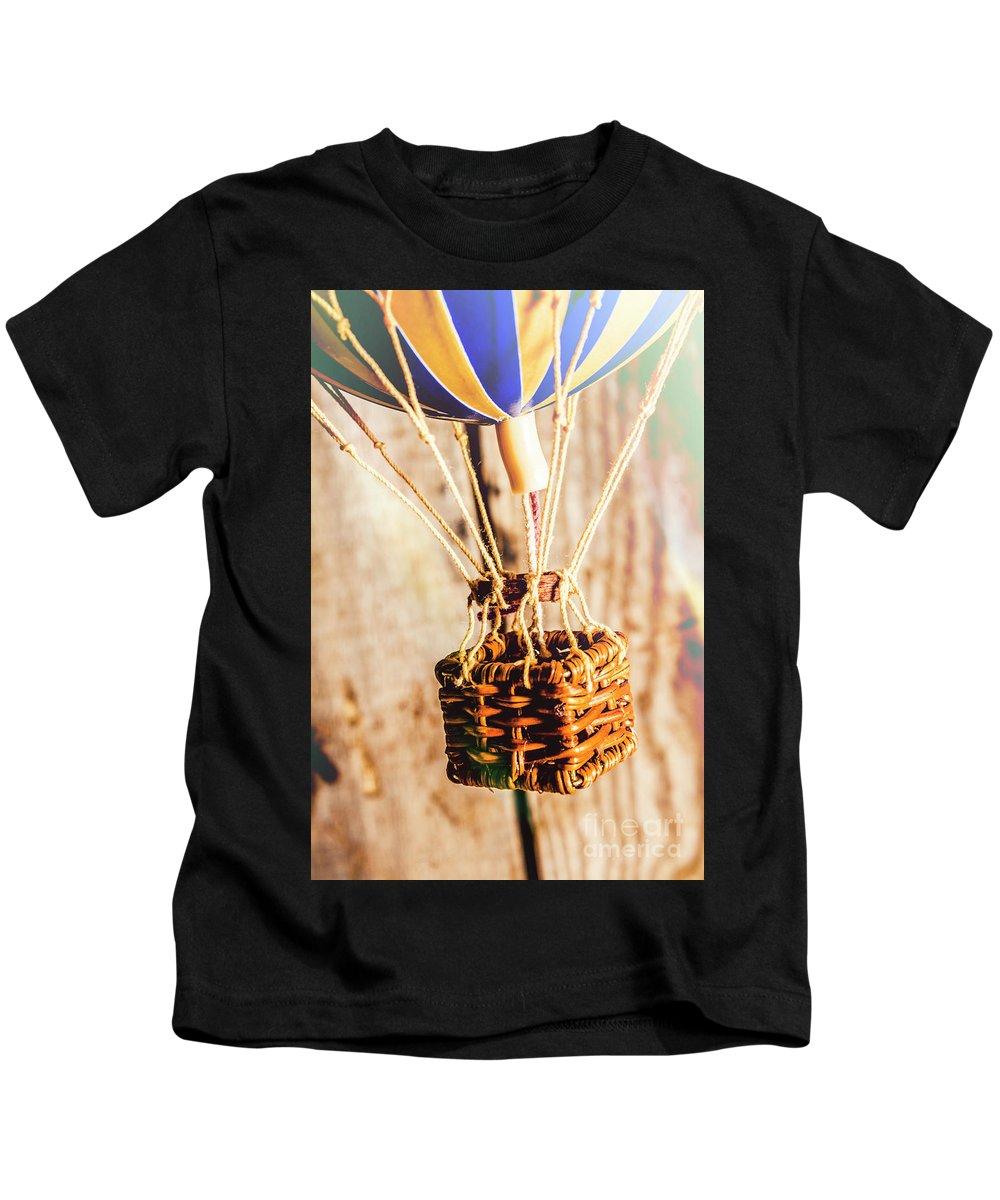 Basket Kids T-Shirt featuring the photograph Woven Air Craft by Jorgo Photography - Wall Art Gallery