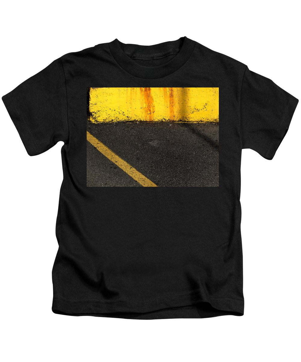 Yellow Kids T-Shirt featuring the photograph Yellow And Grey Wc by Lyle Crump