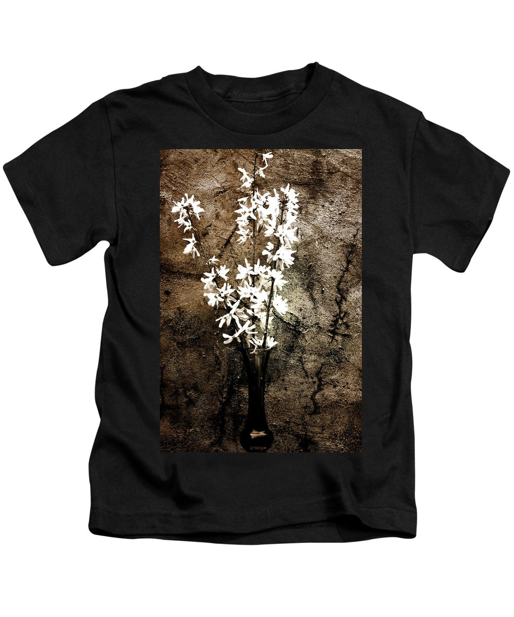Yellow Bells Kids T-Shirt featuring the photograph Yellow Bells by Gray Artus