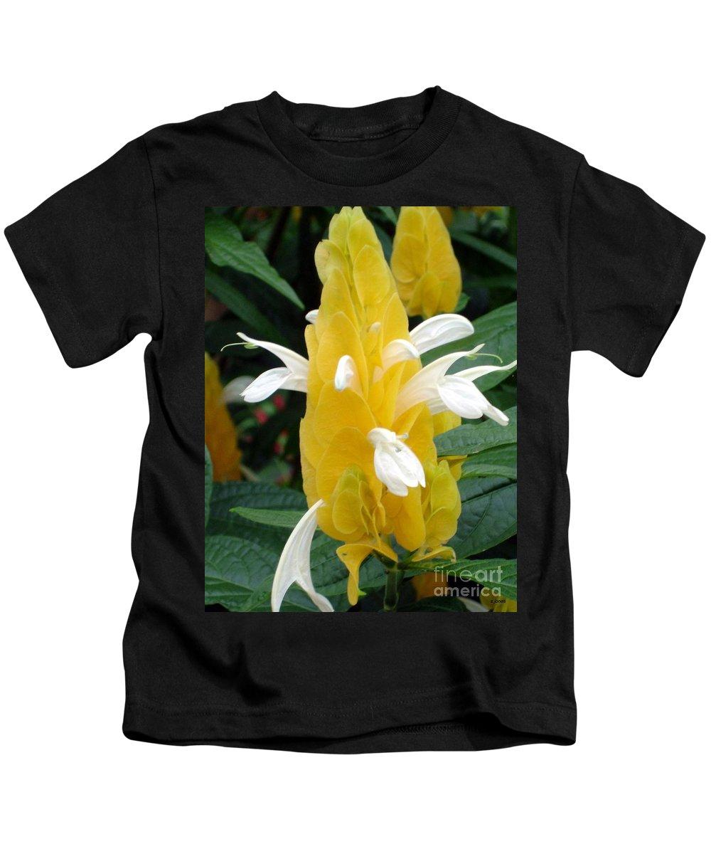 Flower Kids T-Shirt featuring the photograph Yellow Eruption by Shelley Jones