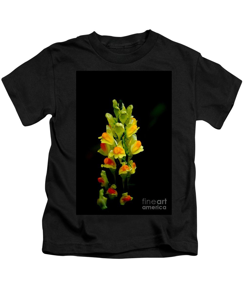 Digital Photograph Kids T-Shirt featuring the photograph Yellow Floral 7-24-09 by David Lane