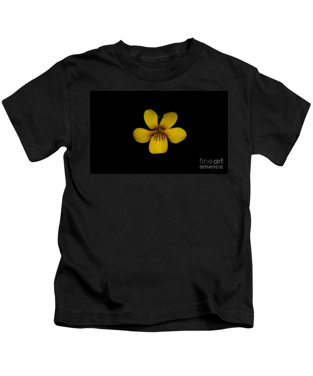 Landscape Kids T-Shirt featuring the photograph Yellow Flower 1 by David Lane