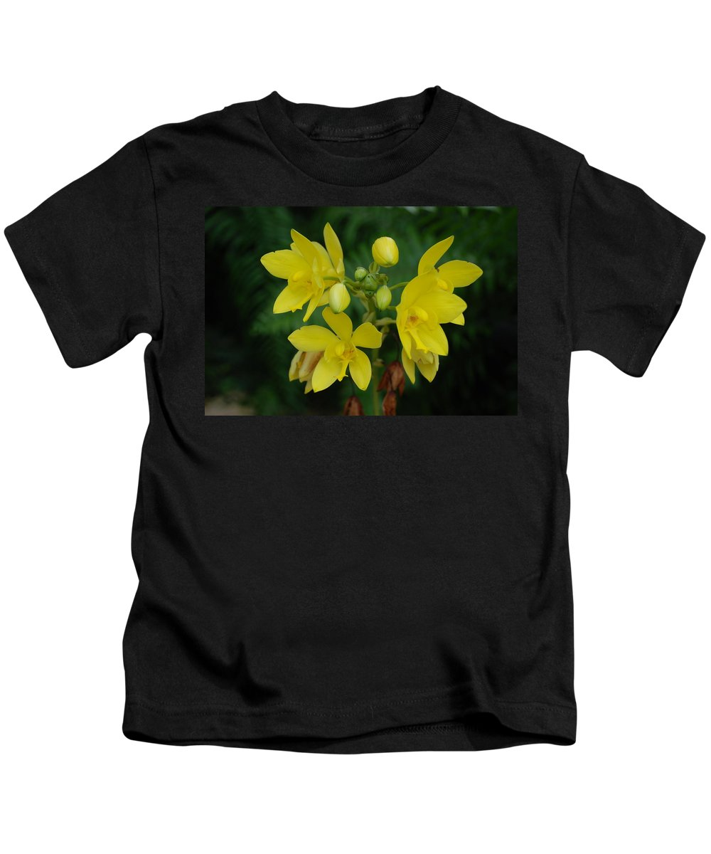 Macro Kids T-Shirt featuring the photograph Yellow Flower by Rob Hans