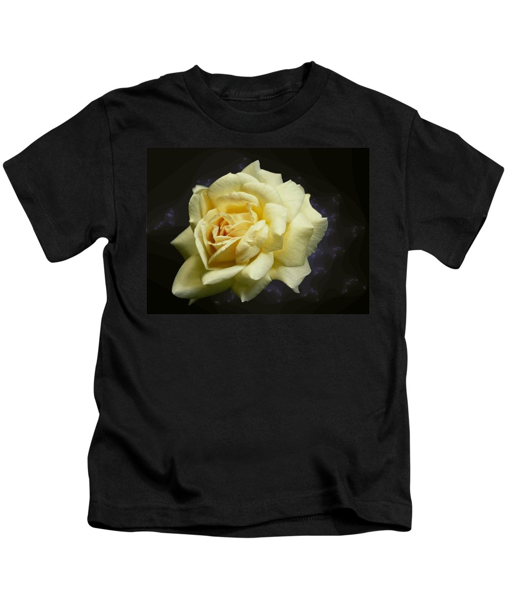 Yellow Rose Kids T-Shirt featuring the photograph Yellow Rose 2 by Tim Allen