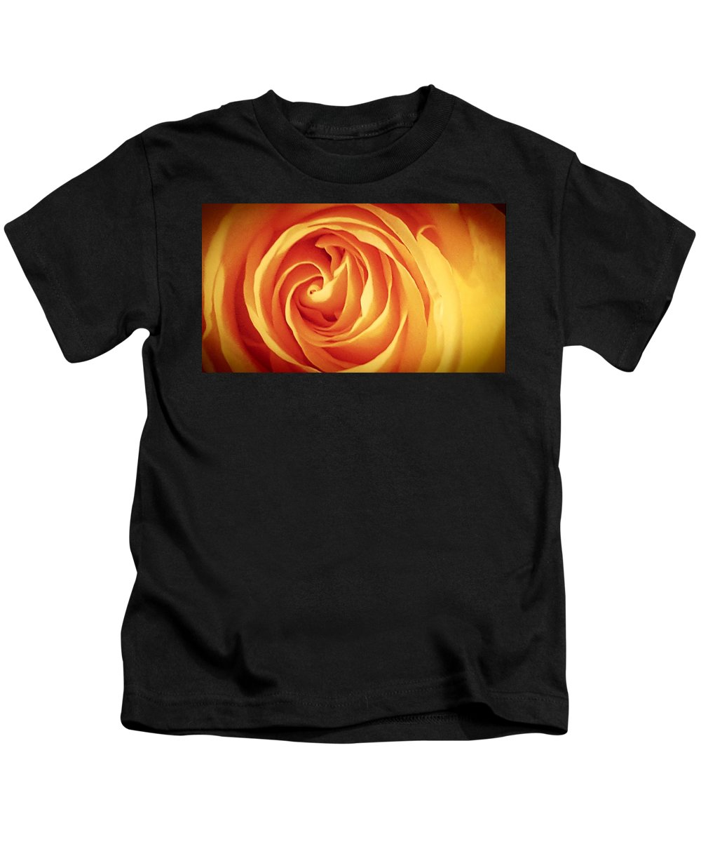 Yellow Kids T-Shirt featuring the photograph Yellow Rose by Adrienne Zulkoski