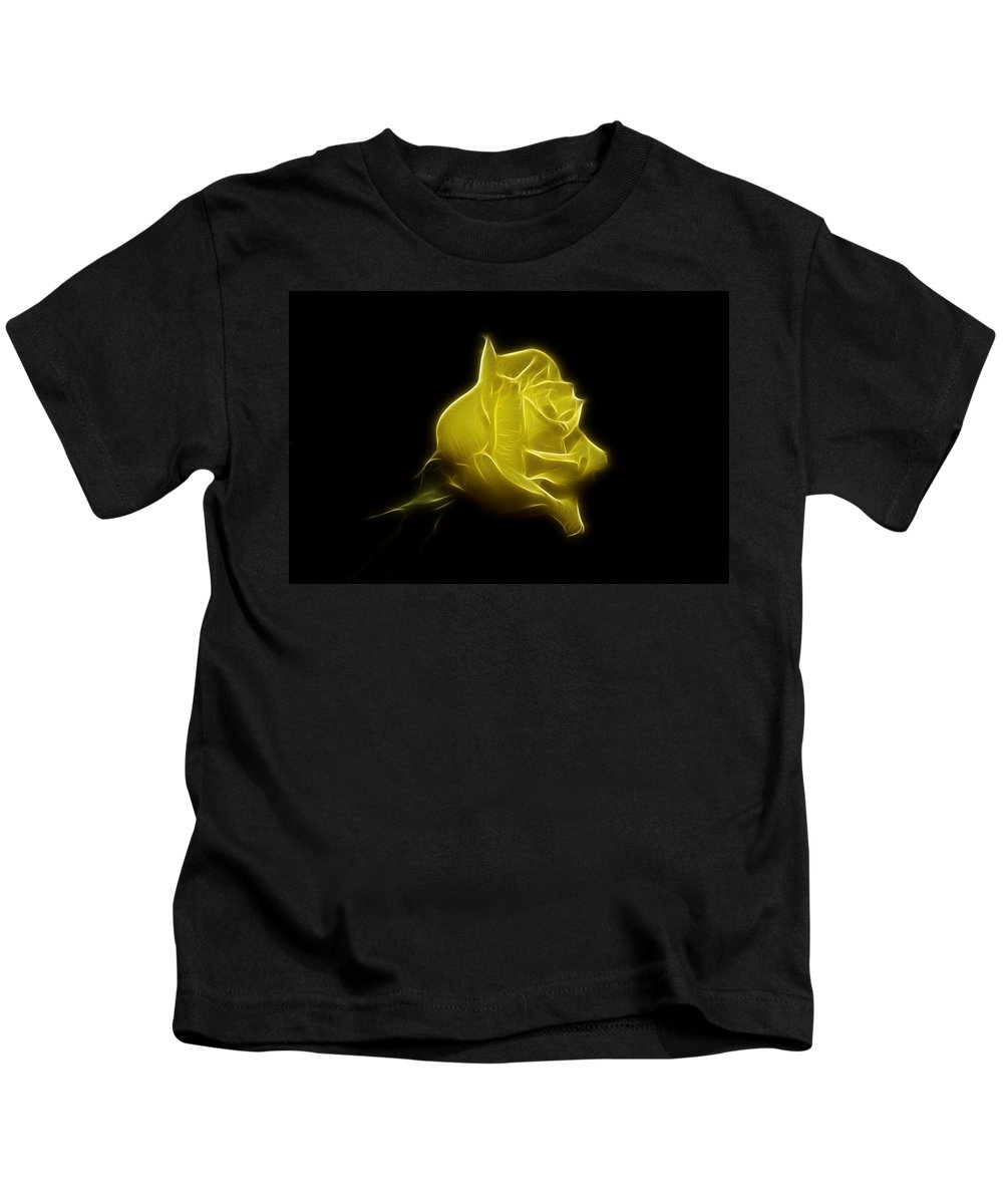 Rose Kids T-Shirt featuring the photograph Yellow Rose by Sandy Keeton