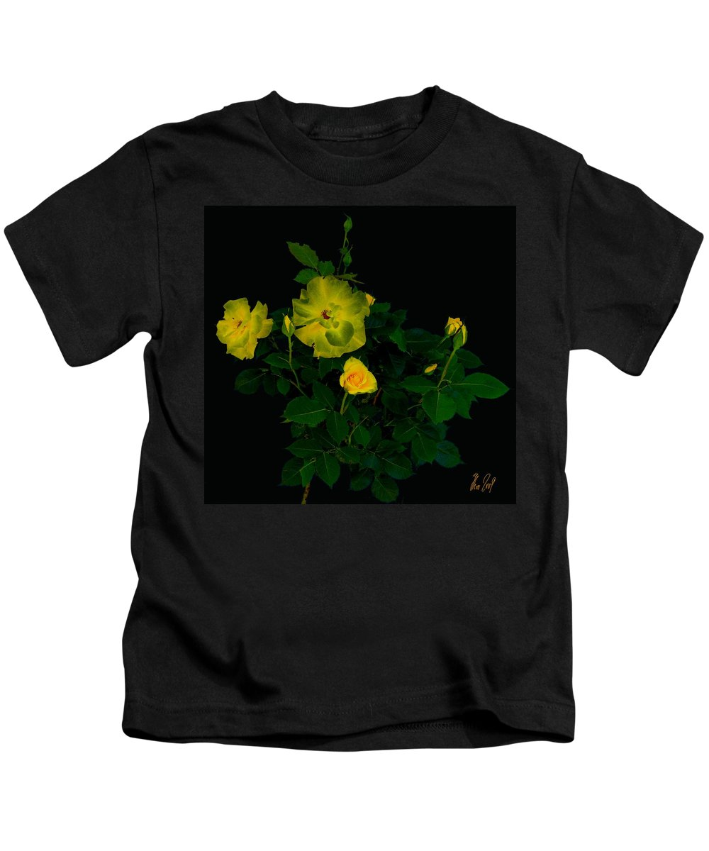 Rose Kids T-Shirt featuring the photograph Yellow Roses by Helmut Rottler