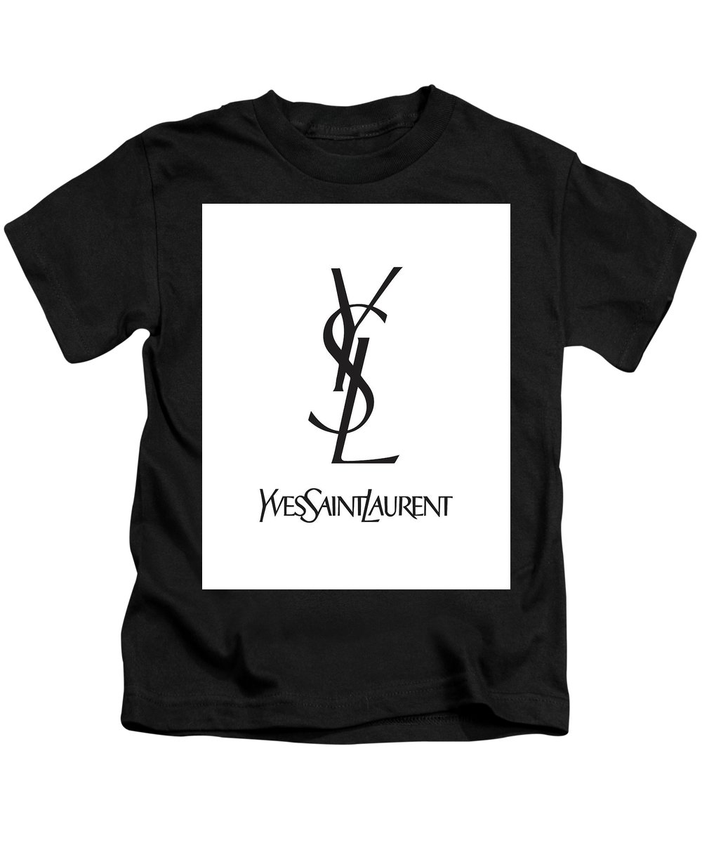 a88fa08eb Yves Saint Laurent Kids T-Shirt featuring the digital art Yves Saint Laurent  - Ysl