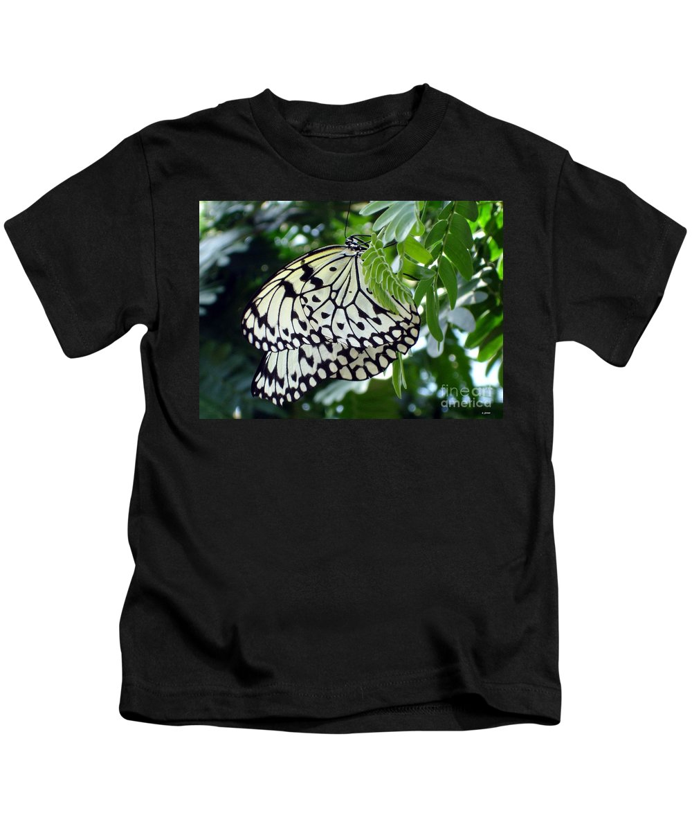 Butterfly Kids T-Shirt featuring the photograph Zebra In Disguise by Shelley Jones
