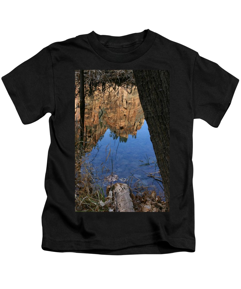 Zion Kids T-Shirt featuring the photograph Zion Reflections by Nelson Strong
