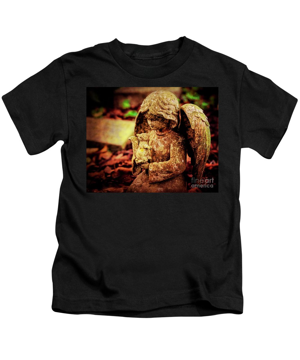 Cherub Kids T-Shirt featuring the photograph Garden Grace by Joe Geraci