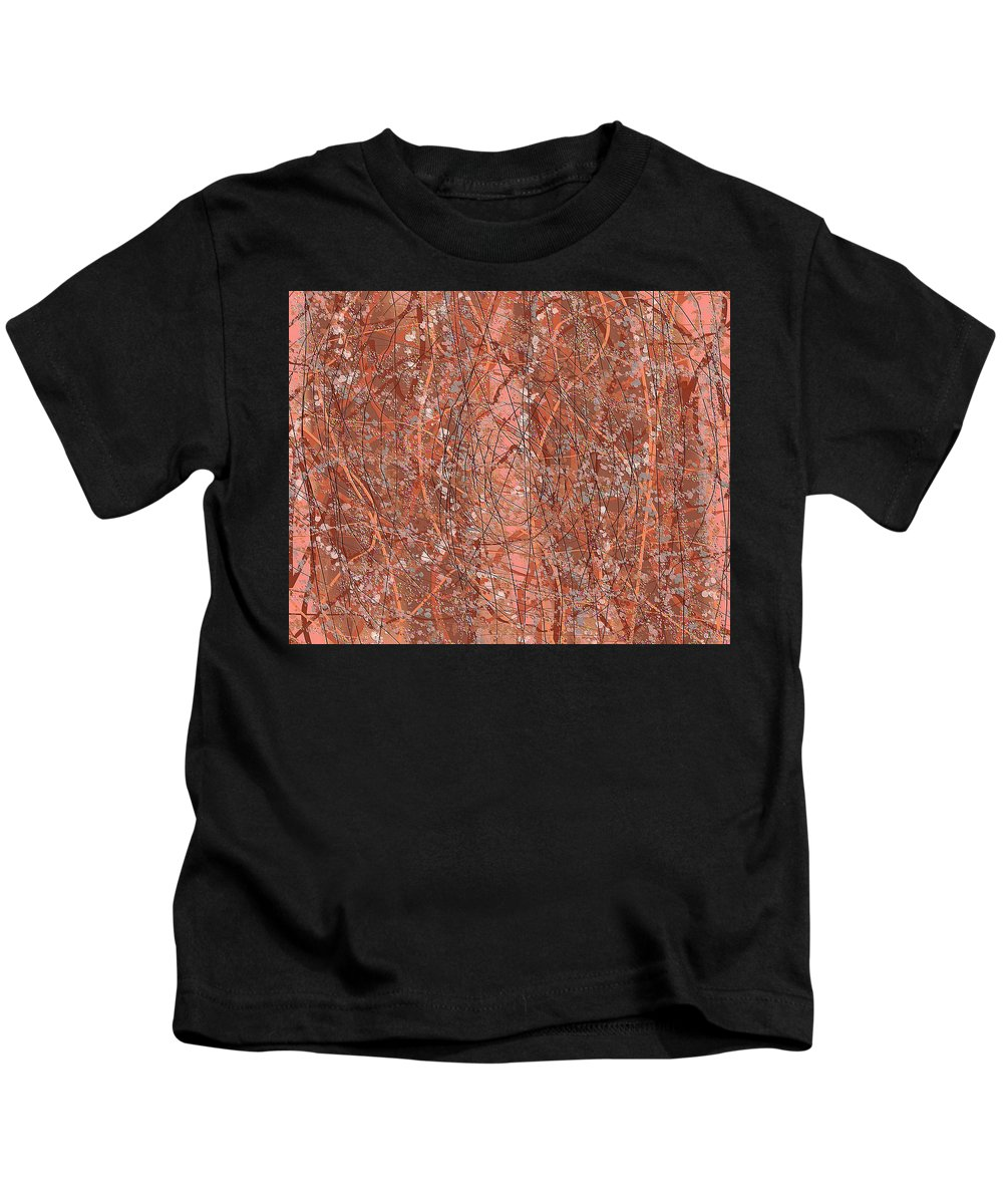 Abstract Art Kids T-Shirt featuring the digital art 1966 by Ely Arsha